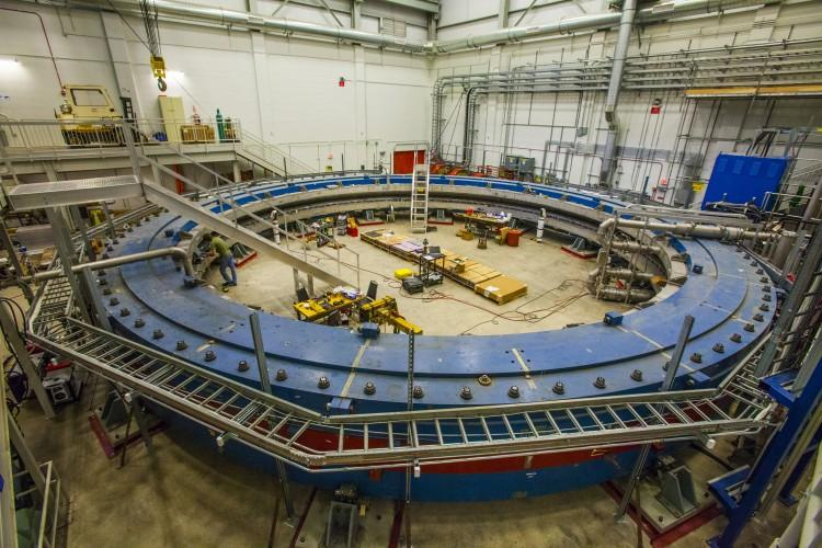 "The Fermi National Accelerator Laboratory — or <a href=""http://www.fnal.gov/"" target=""_blank"">Fermilab</a> — announced that a 680-ton superconducting magnet is secure in its new home and nearly ready for a new era of discovery in particle physics.picture credit: Fermilab"